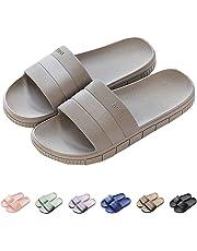 INFLATION Unisex Bathroom Couples Slippers Non-Slip Soft Bottom Summer Beach Women & Men Sandals
