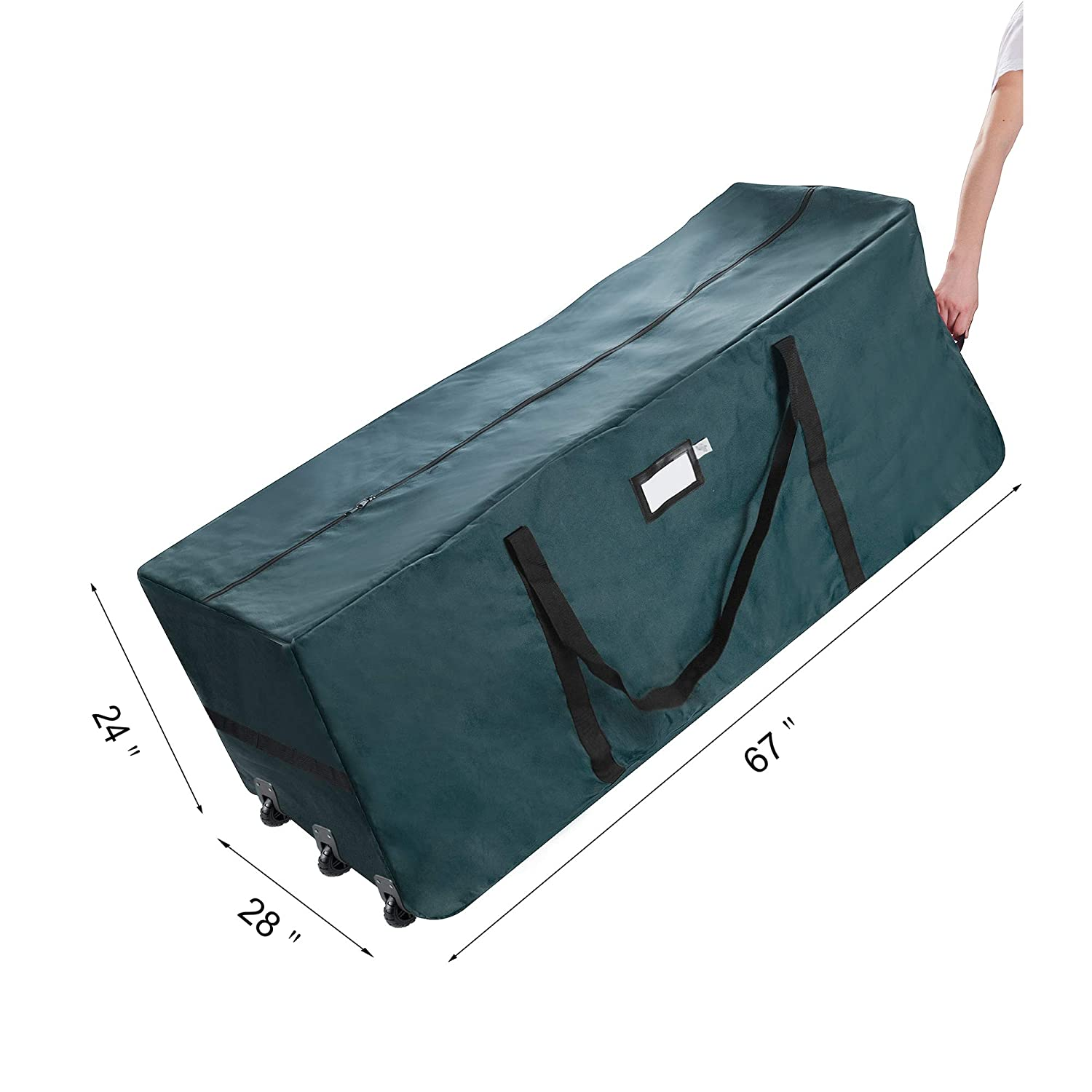1560 Elf Stor Premium Green Rolling Christmas Tree Storage Duffel Bag for 12  Ft Tree  Amazon.in  Home   Kitchen 3476ba1359c12