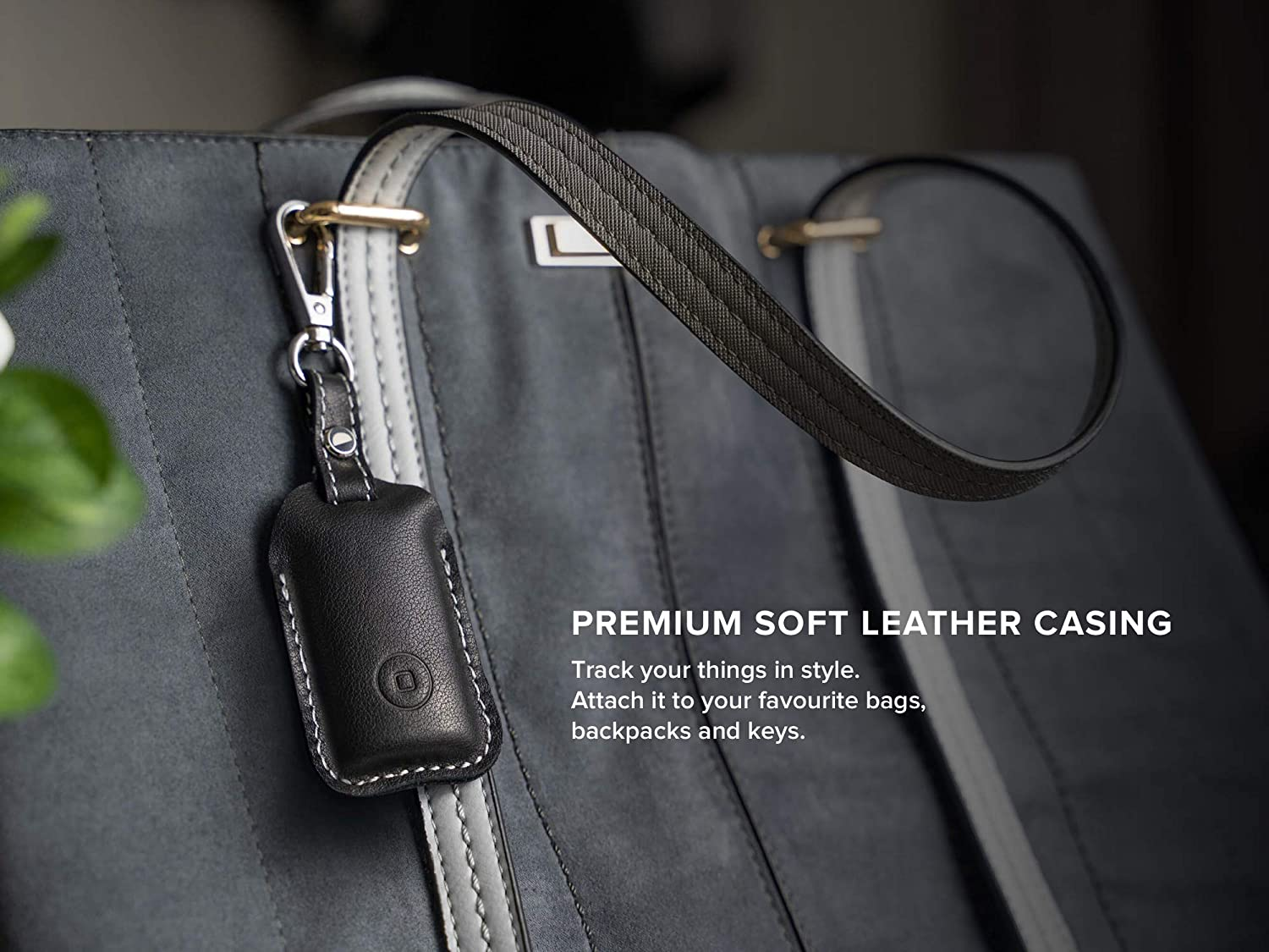 Premium Leather Fob x 2 to Find Lost Car or House Keys or Phone Free Companion App Water Resistant Keychain Tracking Device Safedome Smart Key Locator with Bluetooth Tracker
