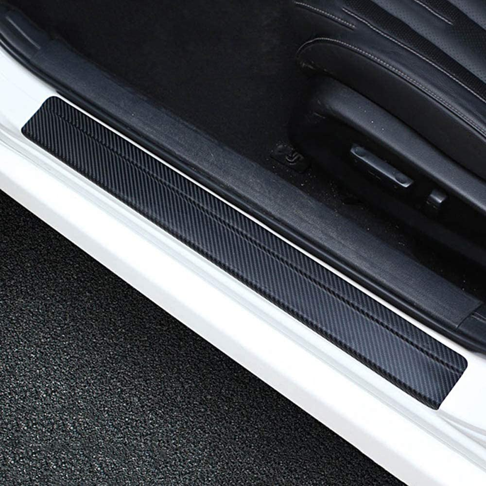 5unids 4D Pegatinas Protectoras Vinilo Proteger Umbral Puerta Coche de Fibra de Carbono Autoadhesivo Impermeable Universal con 4unids Protectores para Puertas de Automóvil: Amazon.es: Coche y moto