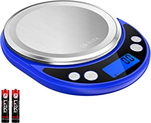 (Latest Version) Brifit 0.1g Precision Food Scale, 3000g Max Digital Kitchen Scale, Mini Pocket Jewelry Scale Weight Grams and oz for Baking and Cooking (Battery Included)