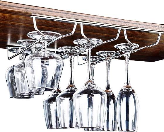 Botellero Vino/Botelleros Titular cáliz - Acero Inoxidable Vidrio de Vino Estante Colgante de Cristal Gabinete Gabinete
