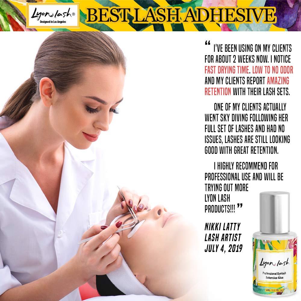 EXTRA POWERFUL Eyelash Extension Glue - Lyon Lash 5ml Performance Glue |  1-2 Sec Dry Time |