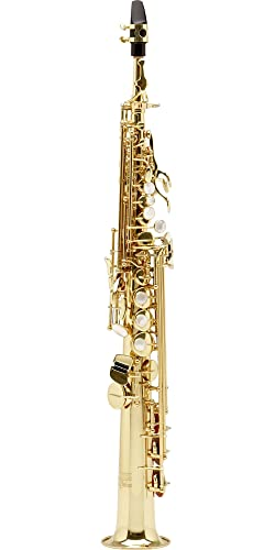 The Allora ViennaIntermediate Soprano Saxophone with Two Necks AASS-502 - Lacquer