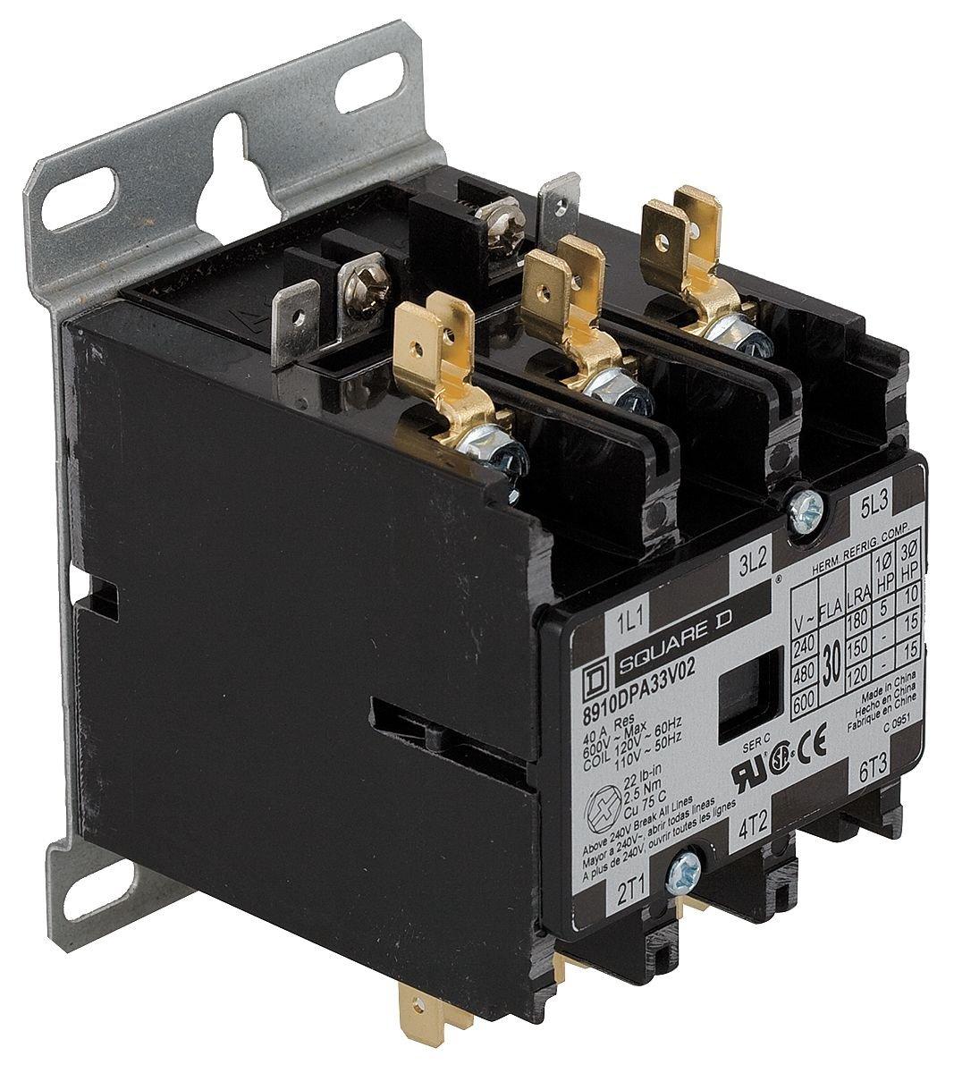 new Square D Contactor 25 Amps 3 pole 24 volt coil 8910DPA23