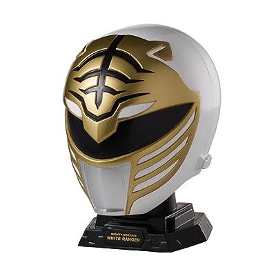Power Rangers Legacy Mighty Morphin White Ranger Helmet Display Set: Toys & Games