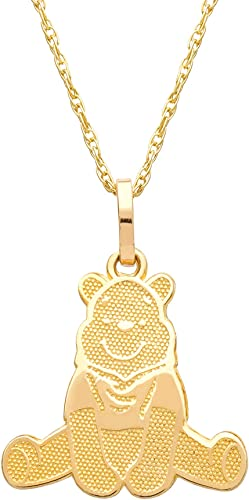 6x Winnie The Pooh Charms Disney Kids Pendant Bracelet Necklace Gold Silver