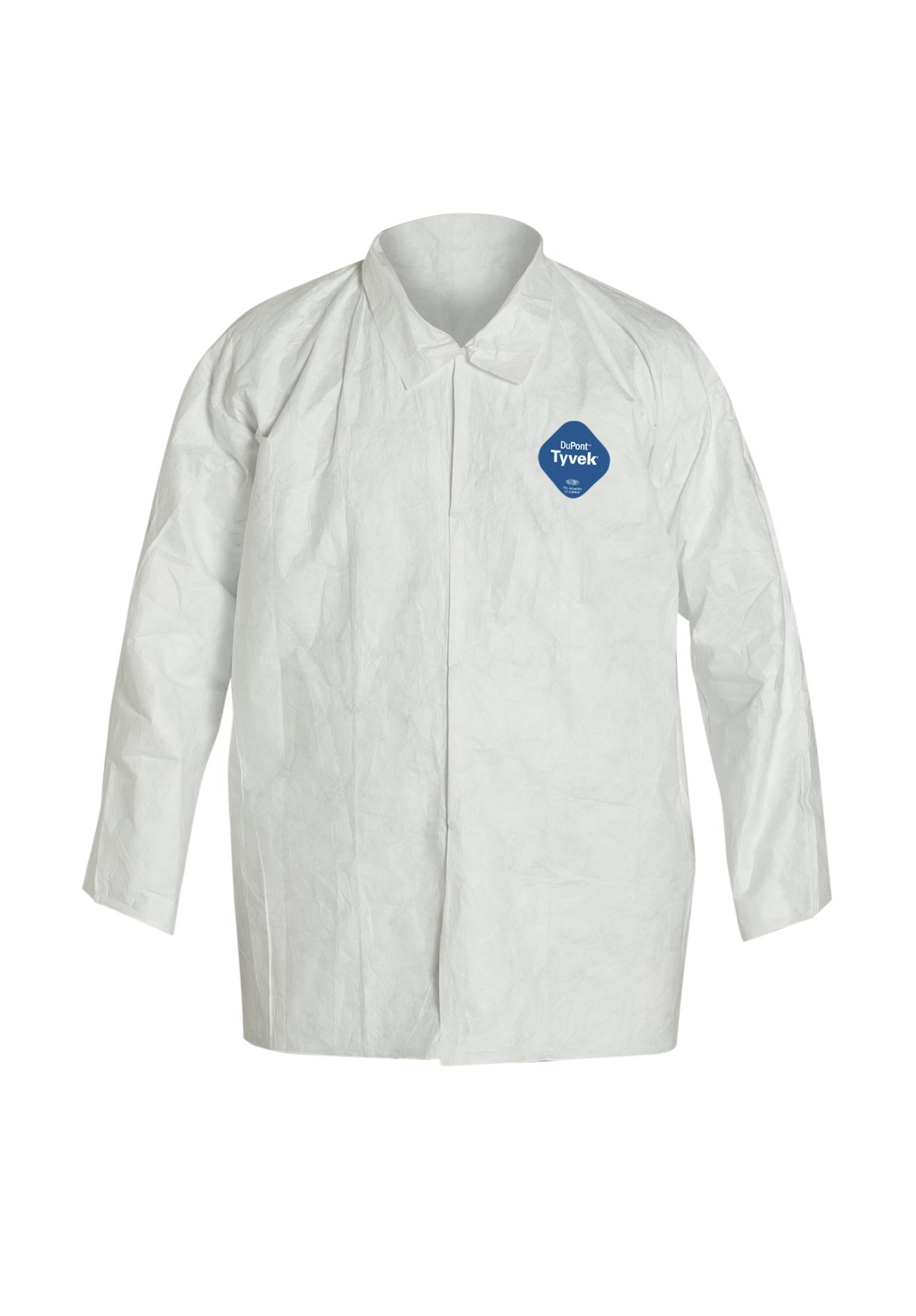 DuPont Tyvek 400 TY303S Disposable Shirt with Open Cuff, White, 2X-Large (Pack of 50) by DuPont (Image #1)