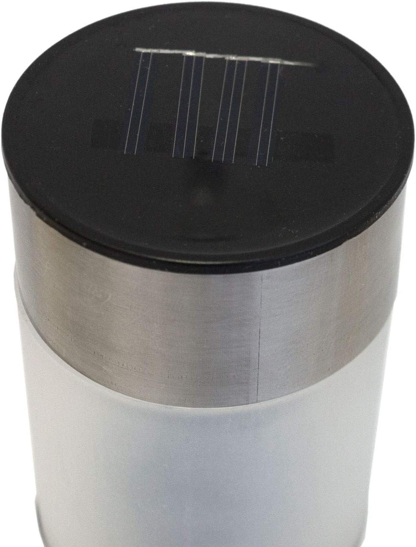 4er Set Edelstahl LED Solarlampe mit Erdspie/ß H38cm Solarleuchten Gartenlampe Gartenleuchte Wegeleuchte Au/ßenbeleuchtung