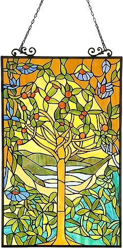 Chloe Lighting Tiffany Style Tree of Life Window Panel