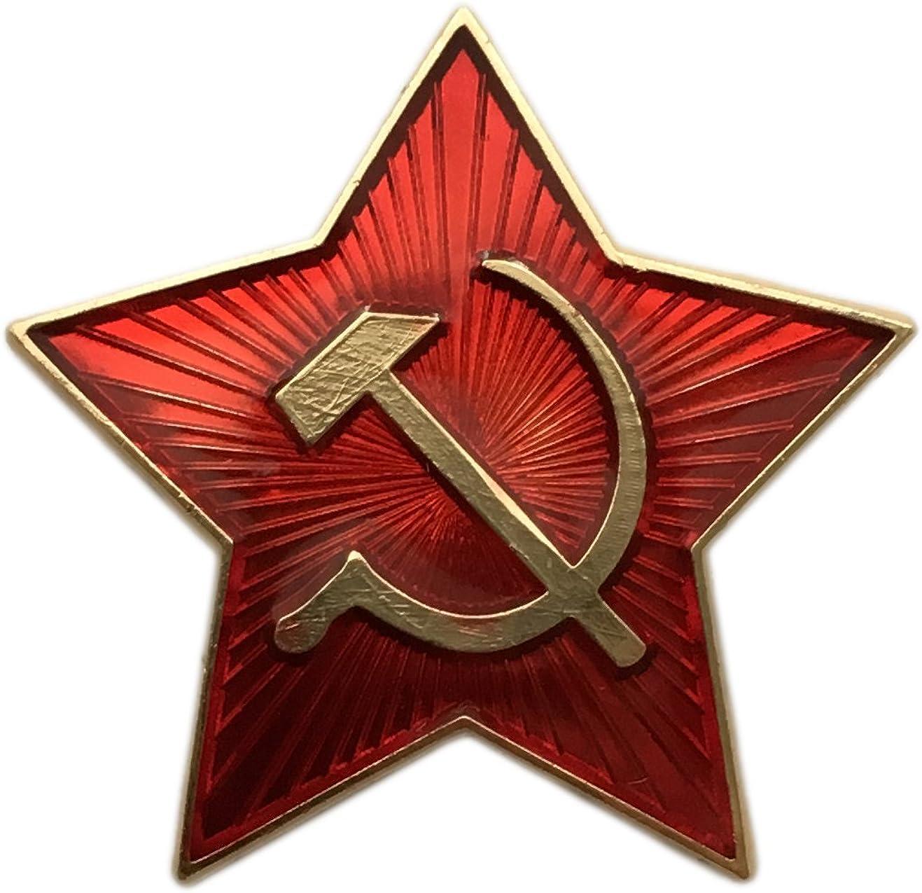 Ganwear/® URSS arm/ée militaire russe Petite /étoile ROUGE Casquette Ushanka Bonnet B/éret Insigne Kokarda