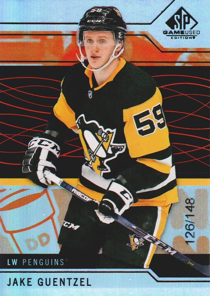 Verzamelingen Verzamelkaarten, ruilkaarten 2018 Upper Deck SP Game Used Orange Rainbow 35 Jake Guentzel Pittsburgh Penguins