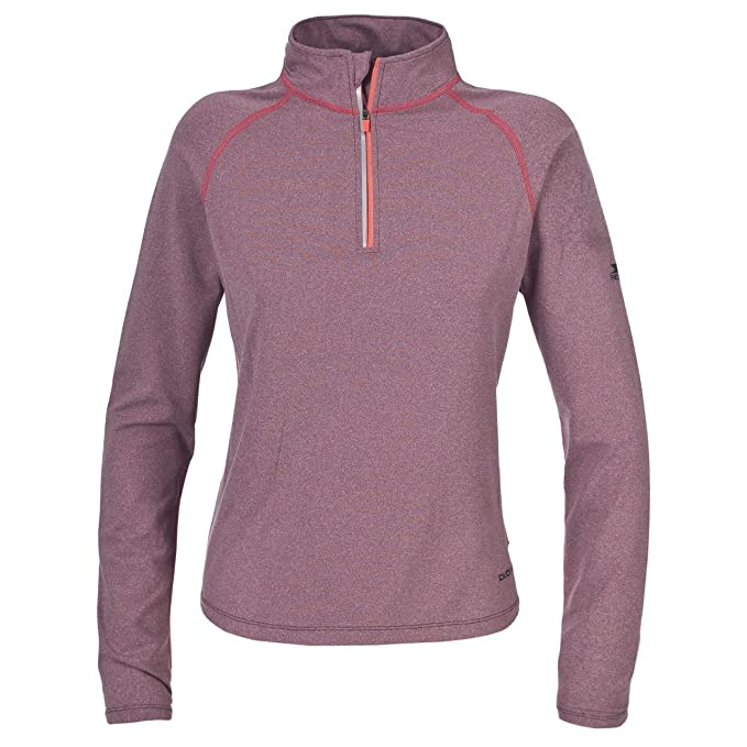 Trespass - Sudadera fina / Camiseta térmica de cuello alto con media cremallera y manga larga