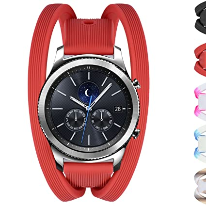 Amazon.com: Gear S3 bandas doble Tour pulsera correa de ...