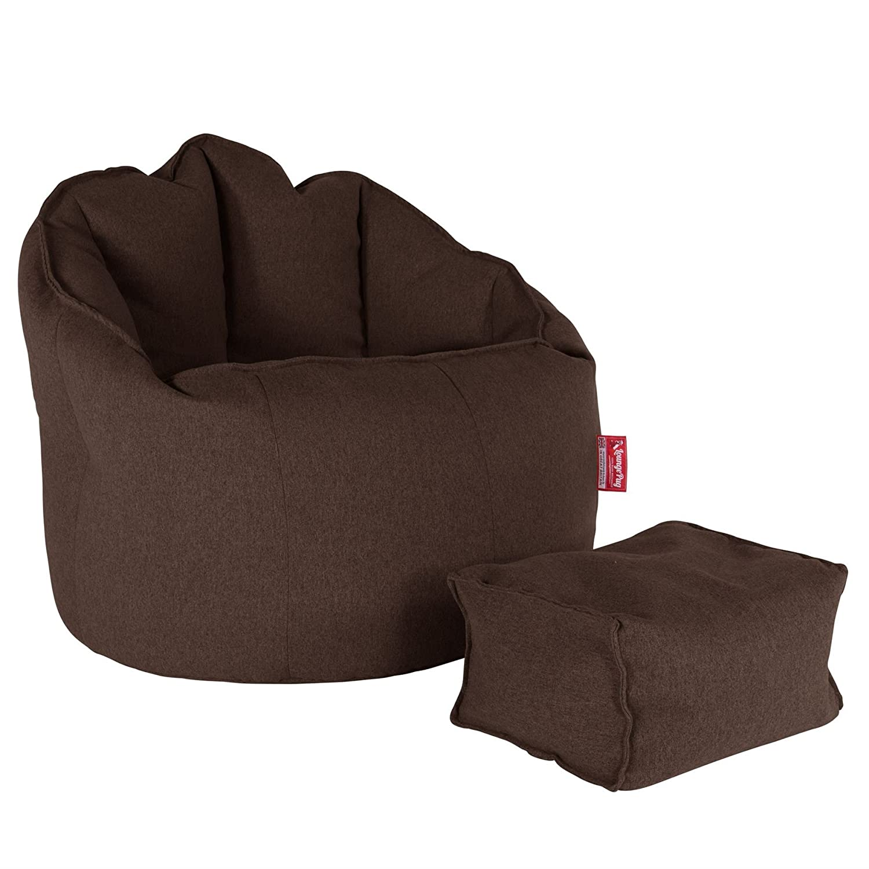 Interalli Laine Marron Lounge Pug/® Pouf Repose Pied