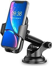 Cocoda Supporto Smartphone per Auto, Cruscotto/Parabrezza Porta Cellulare da Auto, 360° di Rotazione Braccio Estensibile Supporto Cellulare Auto con Pulsante Rilascio di Blocco per iPhone 11 Pro Max/X