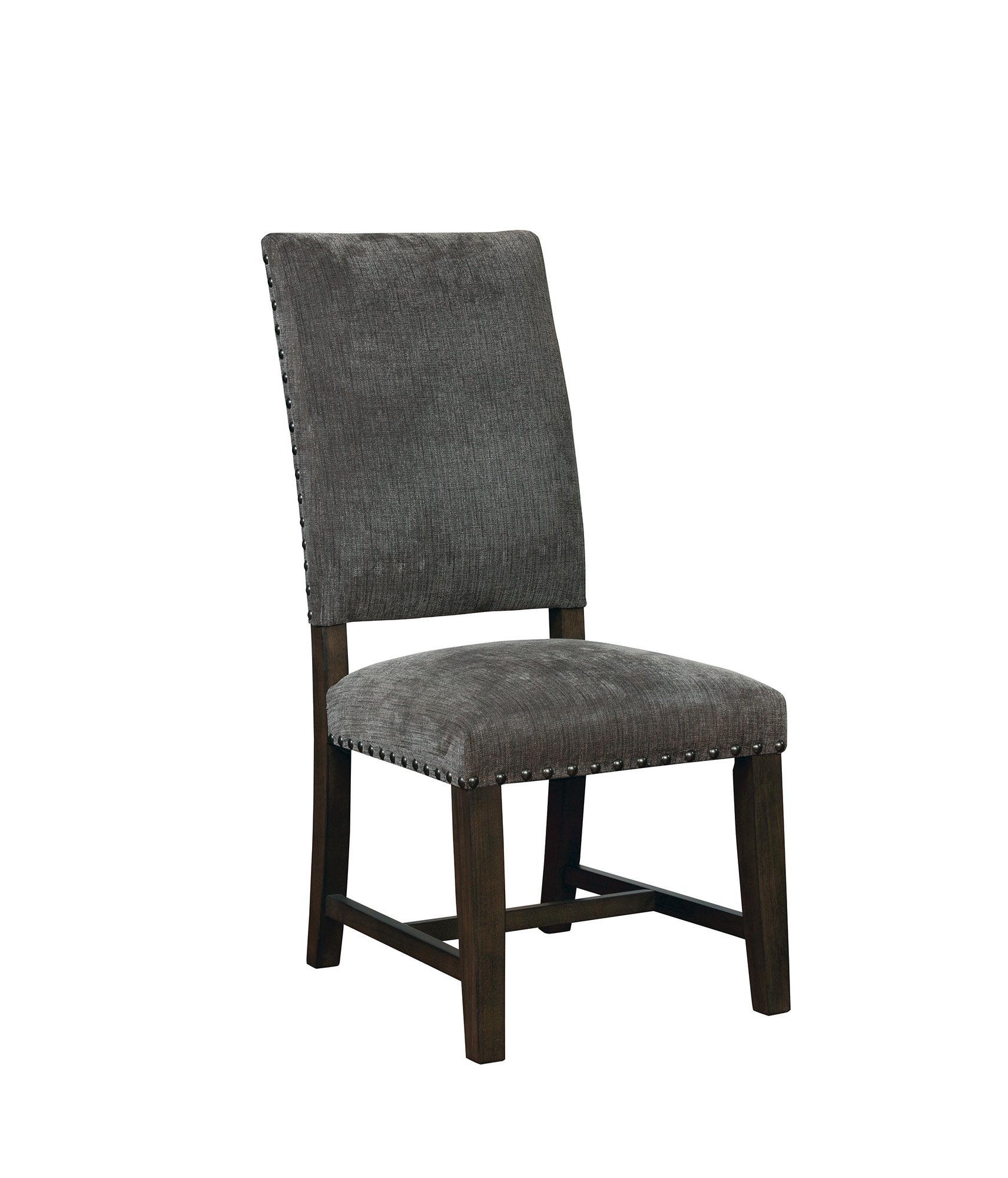 Upholstered Parson Side Chairs Warm Grey (Set of 2) by Scott Living (Image #3)