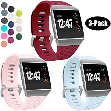 8b11878ba Wepro Bands Compatible with Fitbit Ionic SmartWatch, Watch Replacement Sport  Strap for Women Men Kids