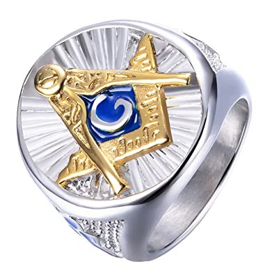 Amazon.com: rinspyre para hombre acero inoxidable azul Lodge ...