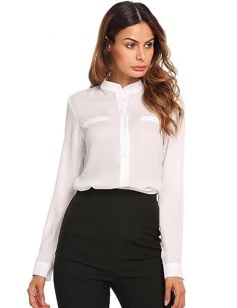 Elegante blusa casual con cuello en V y corte elegante. Muy sexy y opción de colores.