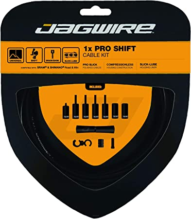 JAGWIRE HOUSING CABLE BRAKE SHIFTER COMPLETE KIT Slick-Lube Liner SHIMANO BLACK
