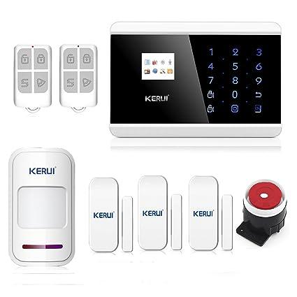 abto TFT pantalla a color App Control teclado táctil inalámbrico GSM sistema de alarma de seguridad