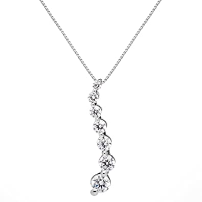 952276ecc51 Amazon.com  14K Solid White Gold Pendant Necklace