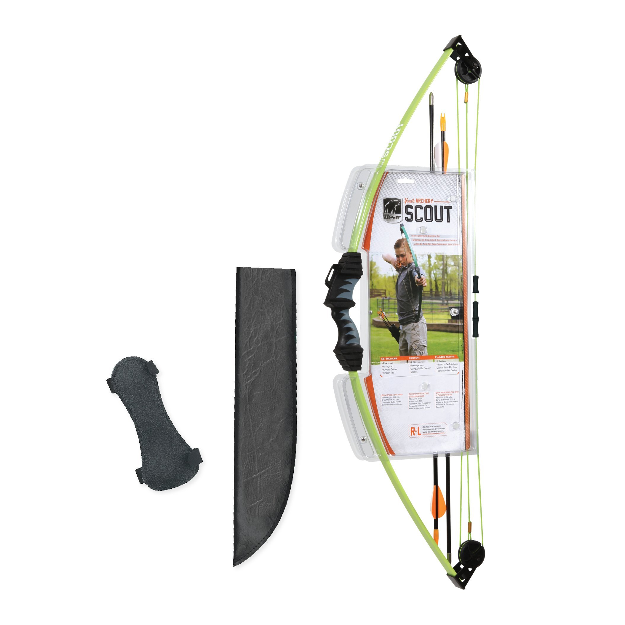 Bear Archery Scout Youth Bow Set - Flo Green by Bear Archery