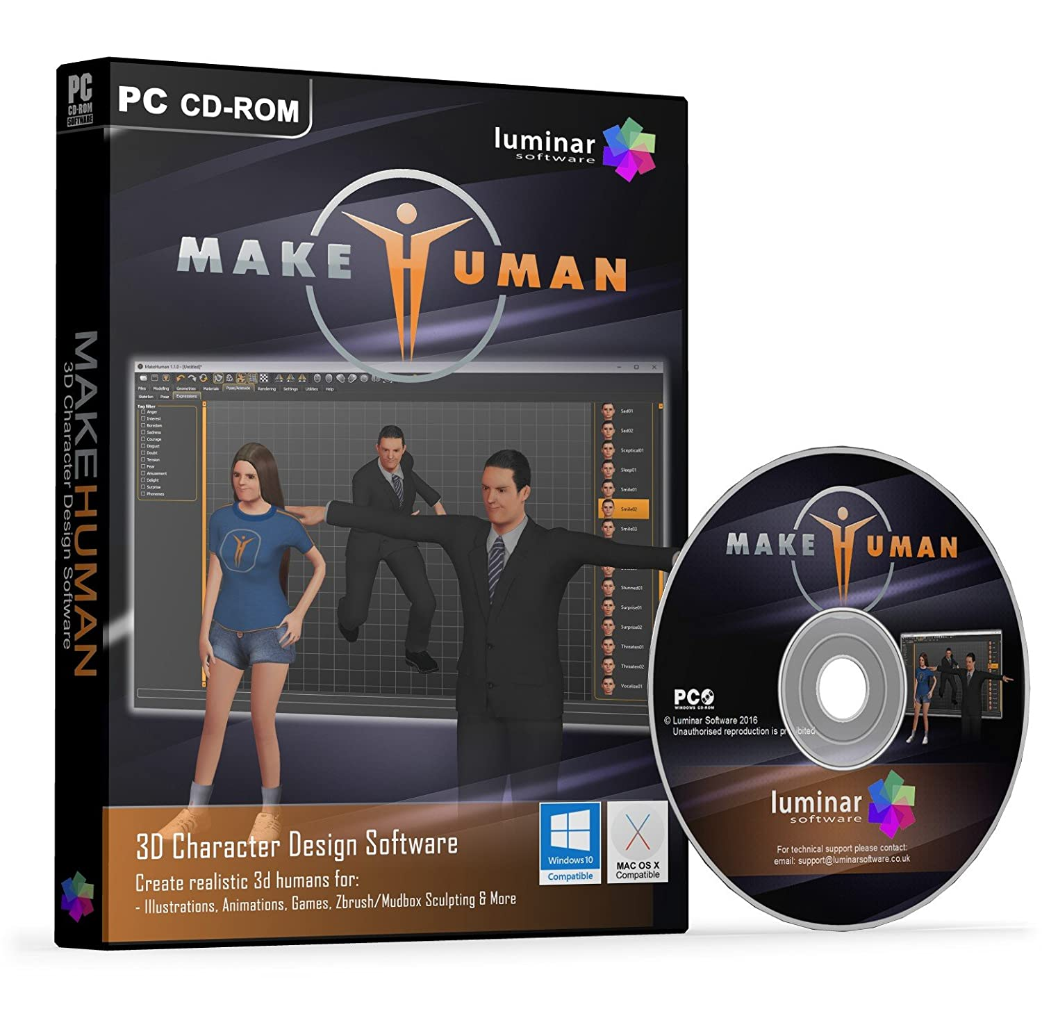 MakeHuman - Powerful 3D Human Modelling Software (PC & Mac) - BOXED AS SHOWN