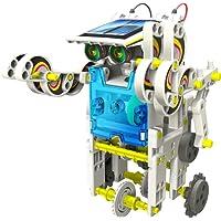 JEEMAK Jouet éducatif de construction, Robot Solaire kit 14 en 1, Jeu Electronique, Science et Nature