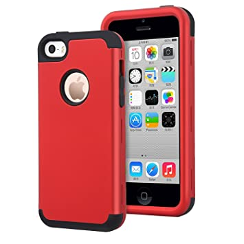 Dailylux iPhone 5C Funda,Carcasa iPhone 5c Funda iPhone 5c híbrido de Alto Impacto de Silicona Suave y Cubierta de la Caja Dura de la PC para iPhone ...