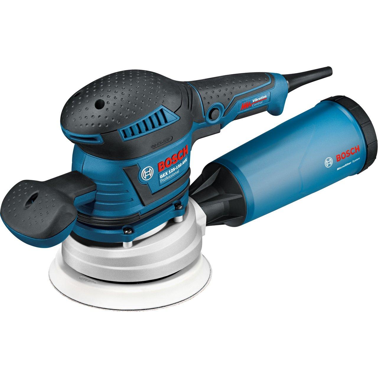 Bosch Professional GEX 125-150 AVE - Lijadora excéntrica, diámetro de plato lijador: