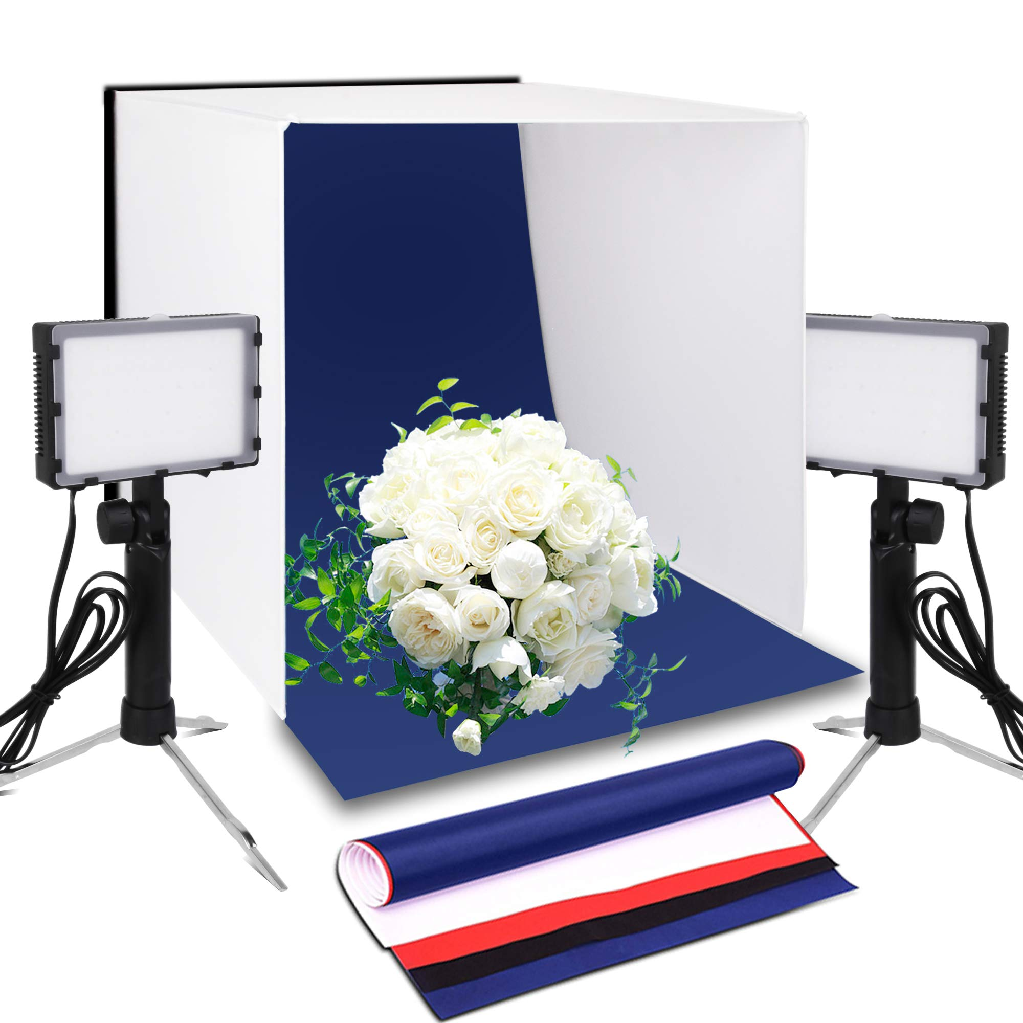 Emart 20 x 20 Inch Portable Photo Studio Kit Photography Light Box Table Top LED Lighting for Product Photography by EMART