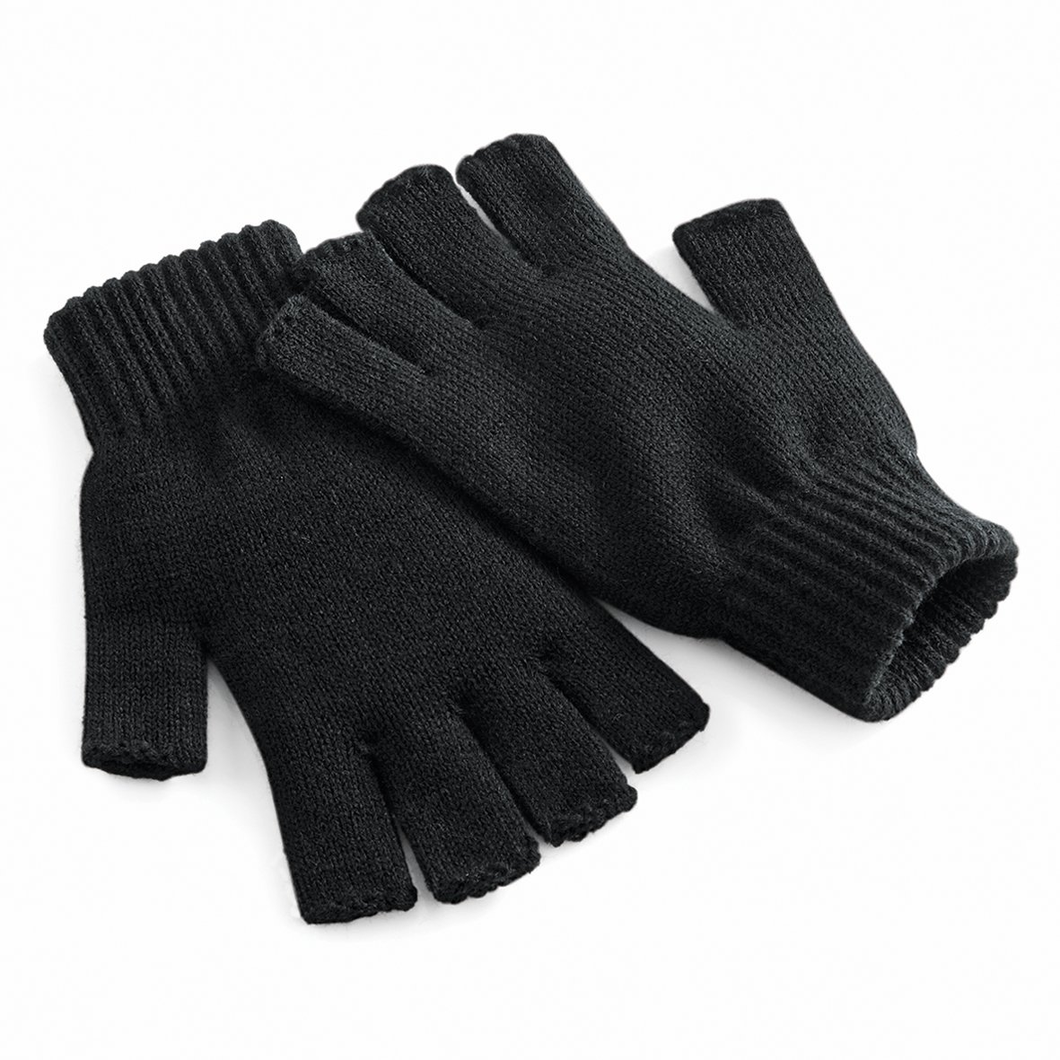 Beechfield Unisex Plain Basic Fingerless Winter Gloves (S/M) (Charcoal) UTRW2032_4