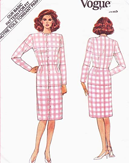 2be294589f85f Image Unavailable. Image not available for. Color: Vogue basic dress  fitting shell sewing pattern 1000 - Size 12