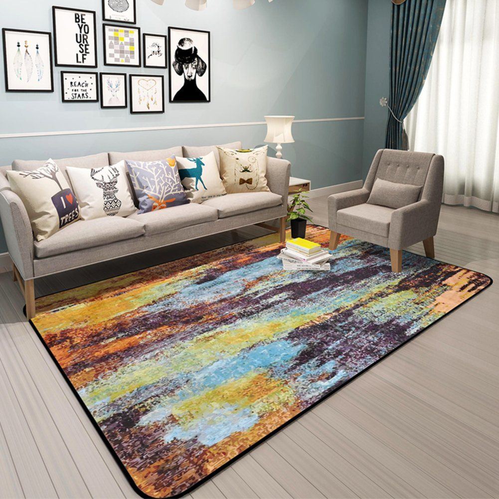 Living room coffee table mats Bedroom wall-to-wall bedside blanket Modern fashion carpet-E 120x180cm(47x71inch)