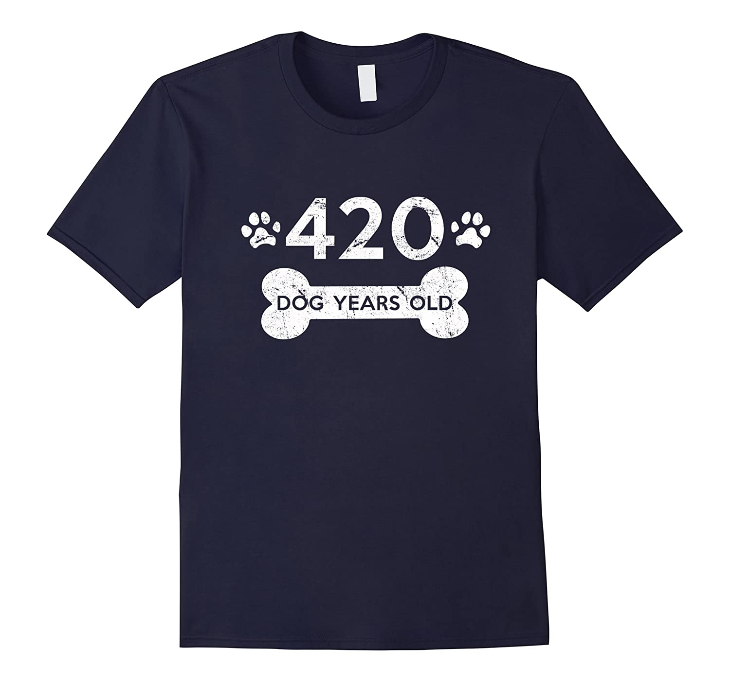 420 Dog Years Old T-Shirt 60th Birthday Gag Gift-TH