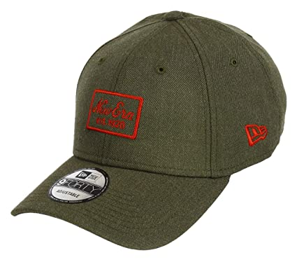 120f5b5eb90 New Era 9forty Adjustable Cap Heather Script Olive Orange - One-Size ...