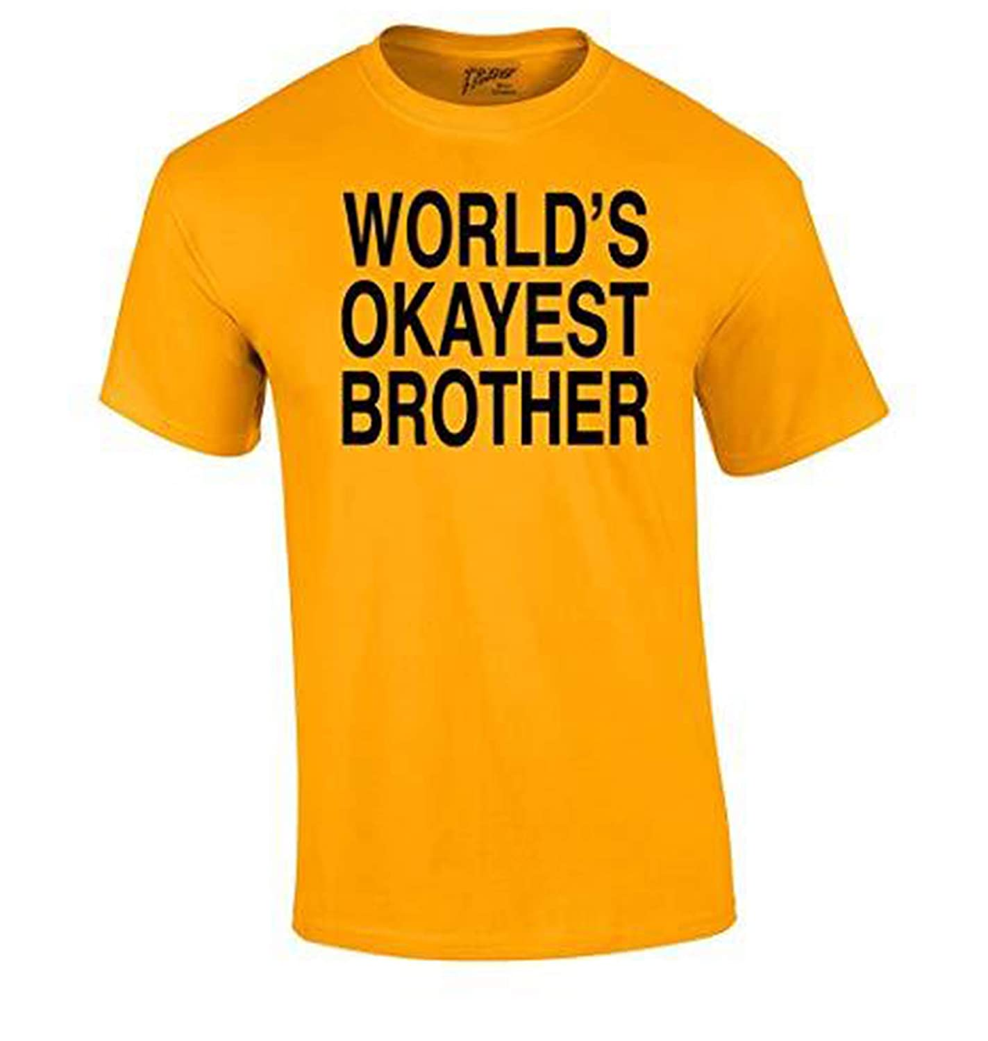 Amazon Com World S Okayest Brother T Shirt Funny Siblings Tee For
