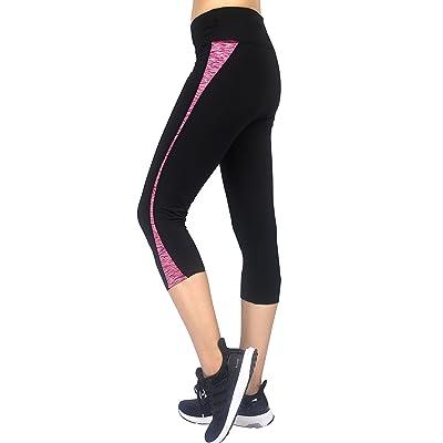 Sugar Pocket Women's Workout Capri Yoga Pants Running Leggings: Shoes