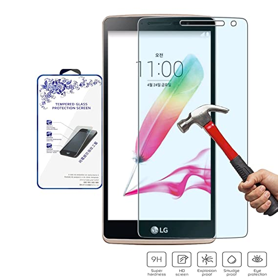 cccae1dd2a1 Nacodex Glass for LG G4 Stylus Premium Real Tempered Glass Film Screen  Protector [Guardian Series
