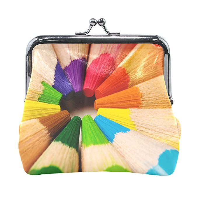 ethel ernest cool rainbow crayon coin wallets mini purse for womens