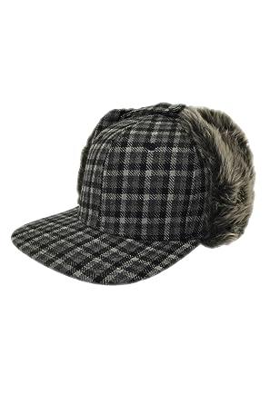 LIDS Private Label Mini Check Earflap Snapback Flat Bill Hat Osfm at ... 05bff7315da
