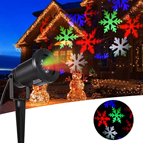 b right moving christmas snowflake projector lights 6 leds landscape projector light for