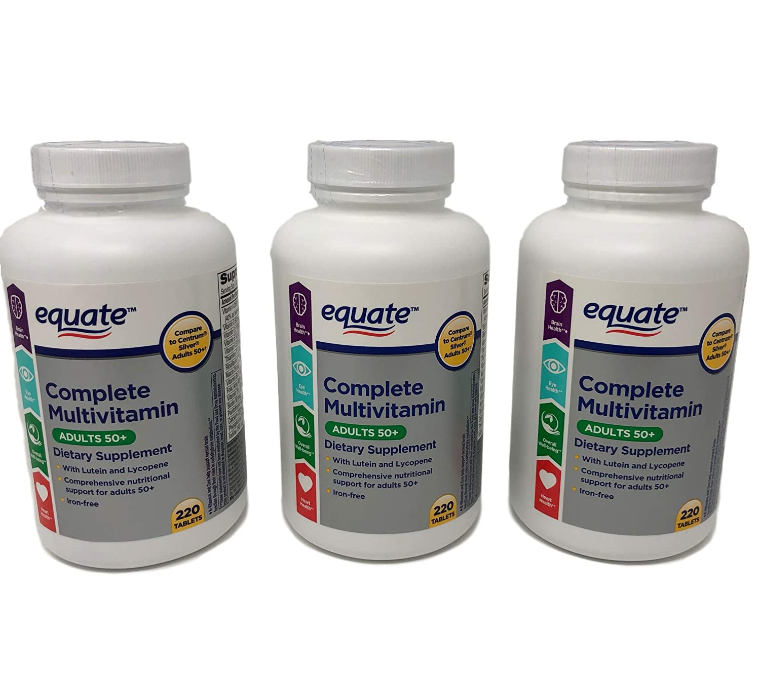 Equate Mature Adult 50 One Daily Complete Multivitamin Compare to Centrum Silver Adults 50 220 Count 3
