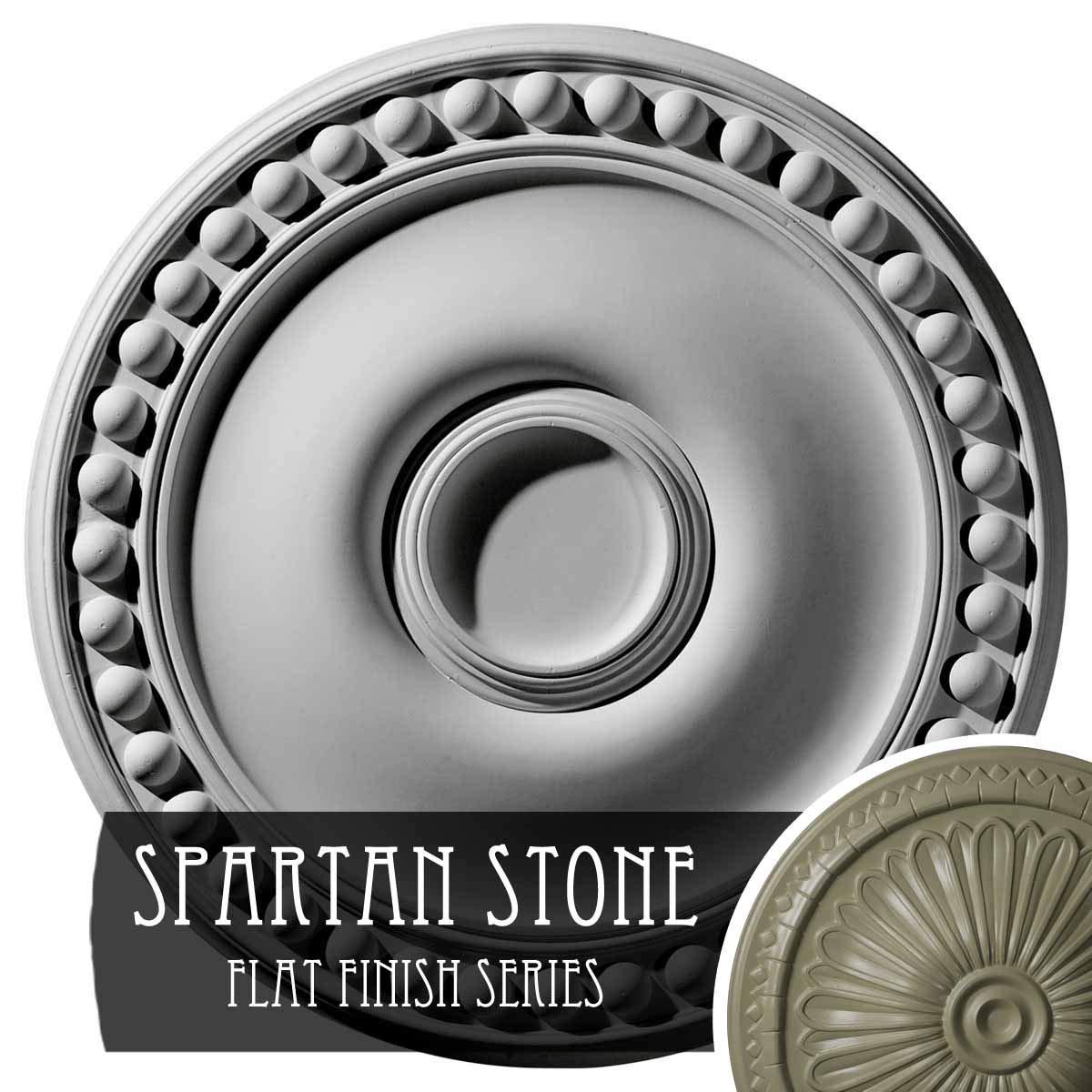 Ekena Millwork CM19FOSSF Foster Ceiling Medallion, Spartan Stone