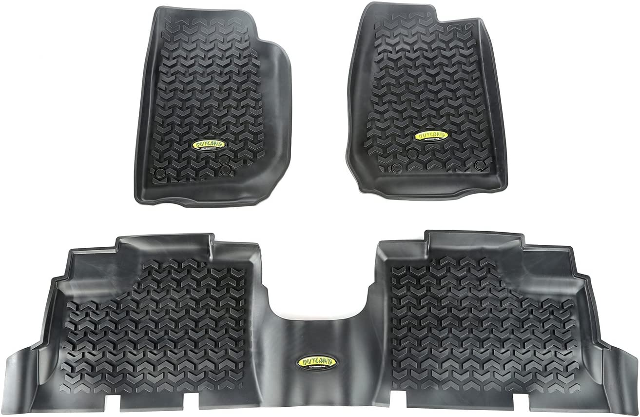 Outland 391298704 Black 5 ☆ popular Front and List price Rear Kit Floor Liner For Selec