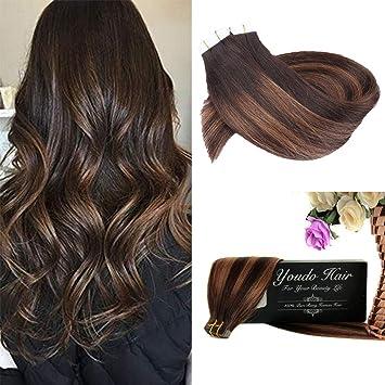 Amazon.com: Cinta de youdo Remy en extensiones de pelo ...