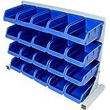 Hardcastle 20pce Free Standing Blue Plastic Storage Bin Kit