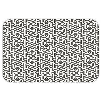 kisscase Custom puerta matmodern adhesivo de decoración antigua Mohawk Patten como blanco bordergeometric ilustraciones blanco y